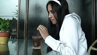 Stars du porno torrides Persia Pele et Bélier Stone dans une incroyable hd, gros seins film over sexe