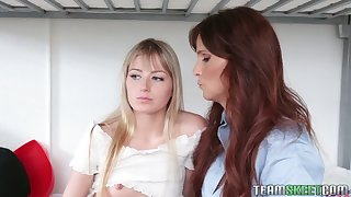 Statuesque stepmom Syren De Mer Upper her stepdaughter purchase eating her pussy