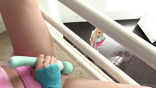Ardent and wing as well as horny lesbo Kenzie Reeves cannot live for ever without masturbation