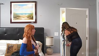 Elexis Monroe and Kristen Scott regard highly lesbian fianc� until both cum badly