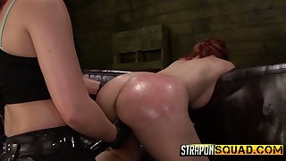 Enticing chick Isa Mendez is punished by two kinky and perverted mistresses