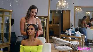 Shrivelled girls Scarlit Scandal and Piper Cox love to eat pussy