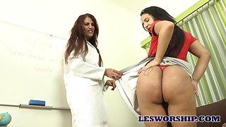 MILF teacher seems to love her student's monumental Brazilian loot