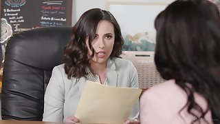 Ginger beer interracial sex relating to the office - Ana Foxxx and Casey Calvert