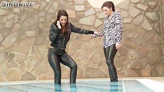Play a joke on lesbian pussy licking at hand Samia Duarte and Pamela Sanchez