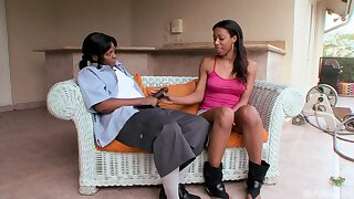 Kytiana Kane and Lovely Haze try kinky sex surpassing the bed matey