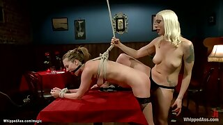 Bound Waitress Butt Stuffed up And Fucked